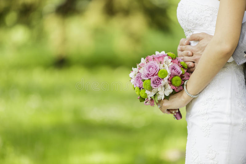 Wedding couple. Closeup of the wedding couple
