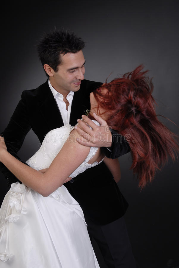 Download Wedding Couple Dancing At Night Stock Image - Image: 12556857