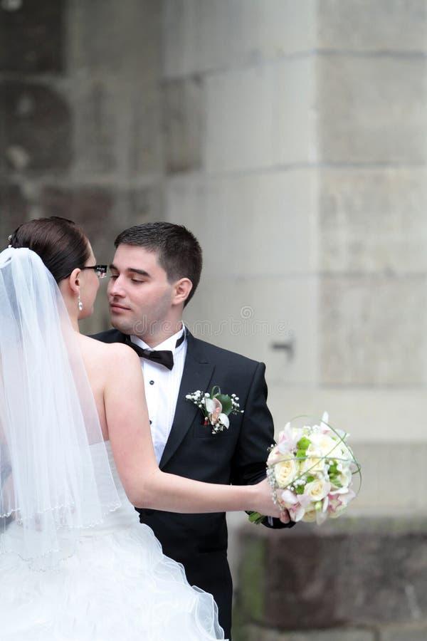 Wedding couple dancing royalty free stock photography