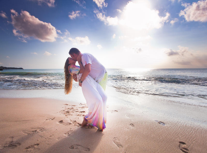 Wedding couple just married stock images