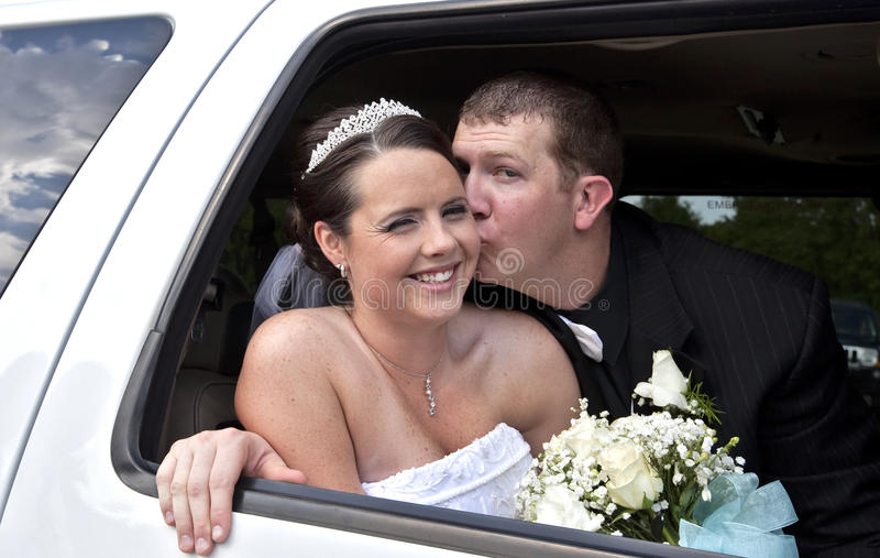 Download Wedding Couple In Limousine Stock Photo - Image: 19992280