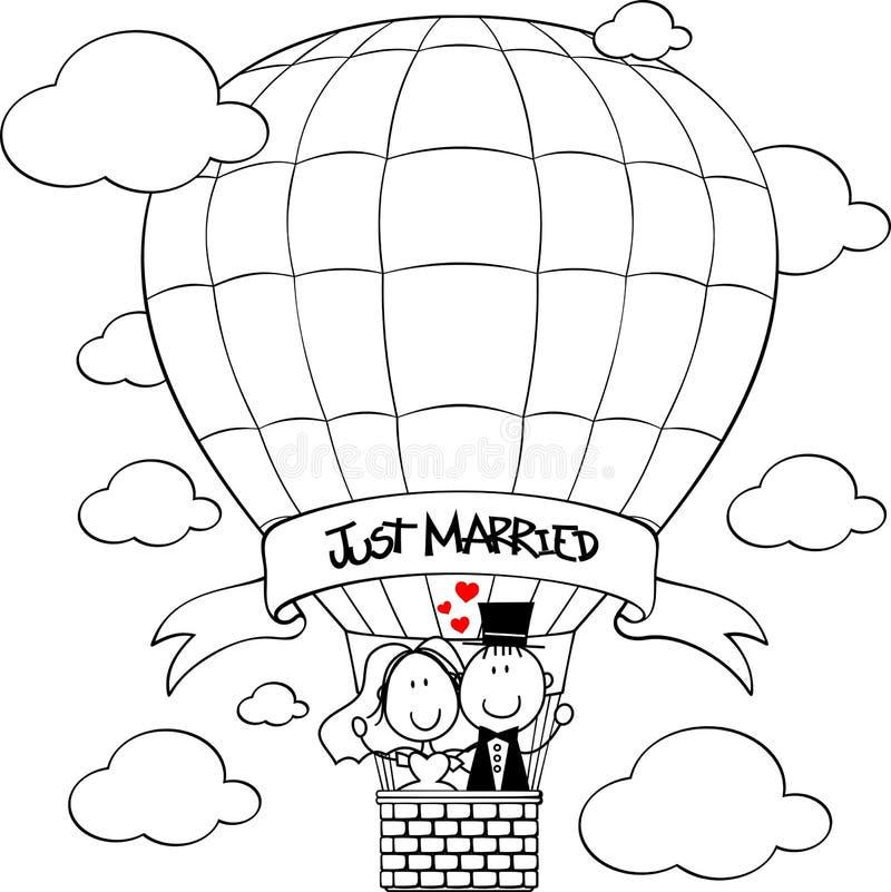 Free Wedding Couple On Hot Air Balloon Royalty Free Stock Image - 44409306