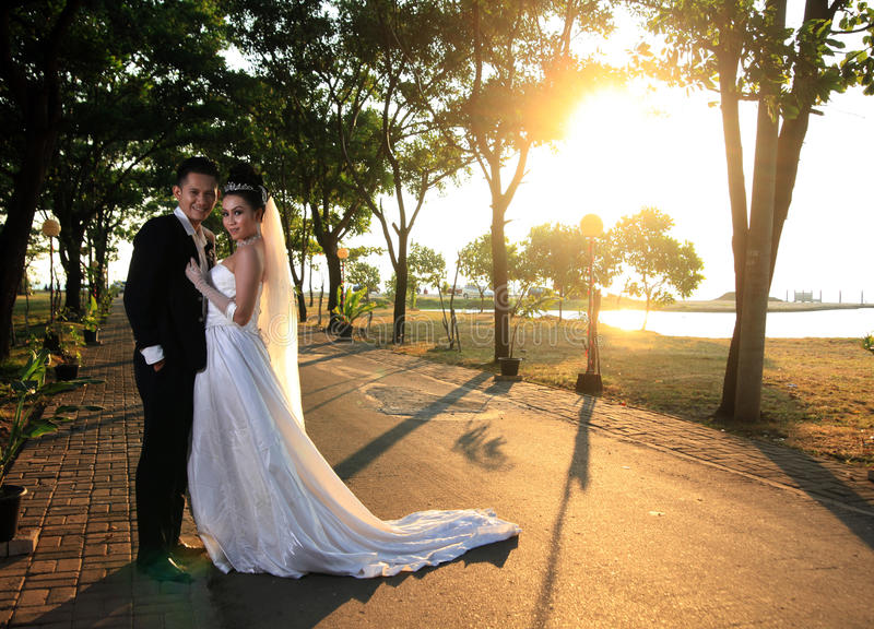 Download Wedding couple outdoor stock image. Image of happy, male - 21657287