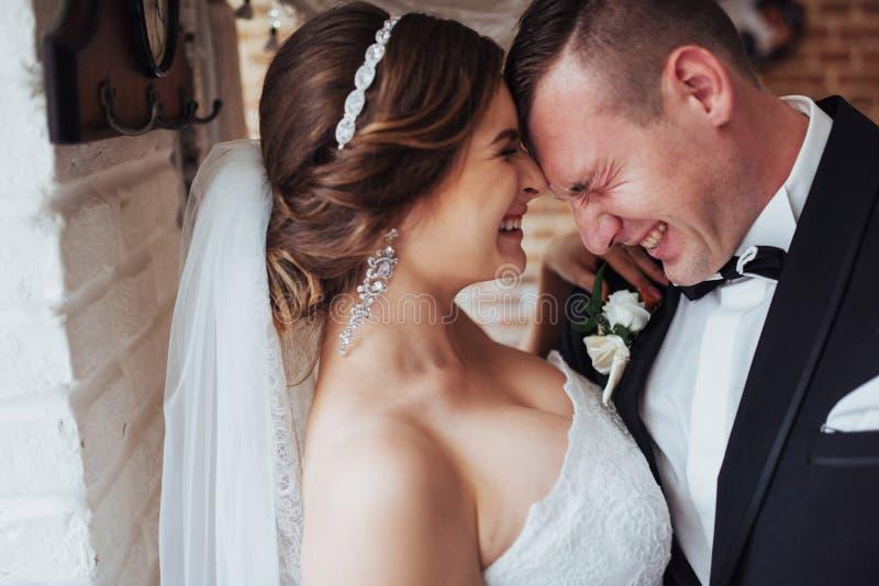 Wedding couple in photo shoot royalty free stock photos