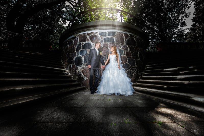Wedding couple portrait stock photo