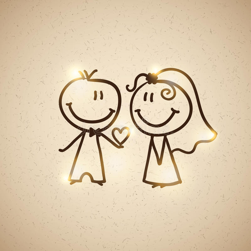 Free Wedding Couple, Vector Eps 10 Stock Images - 29776004
