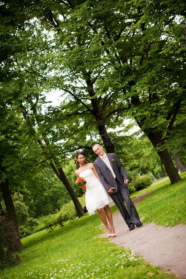 Download Wedding couple walking stock image. Image of elegance - 16295527