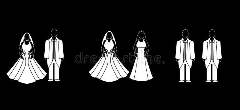 Download Wedding couples stock illustration. Illustration of civil - 14848331