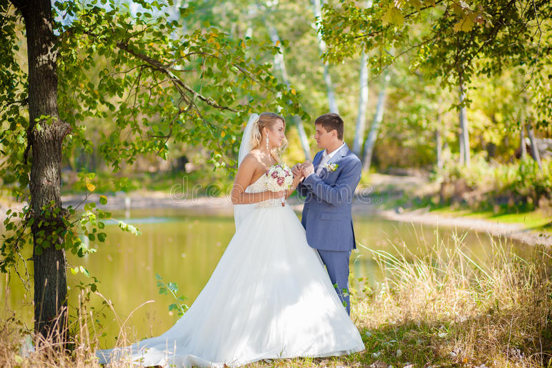 Wedding couples ceremony stock images