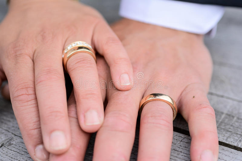 Wedding couples. Close-ups of wedding couples for marriage ceremony after church stock images