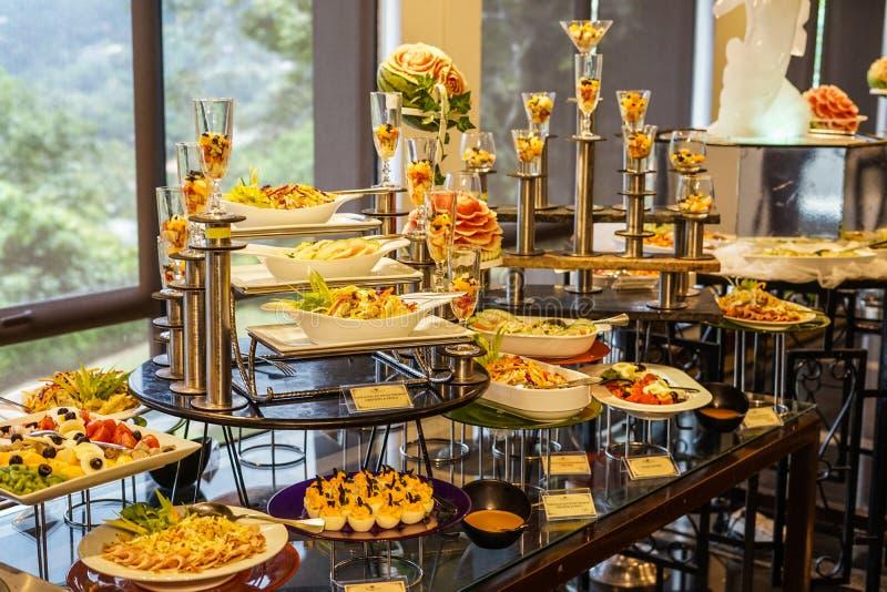 Wedding cuisine buffet buffet. Shooting location :  Sri Lanka Candy stock photos