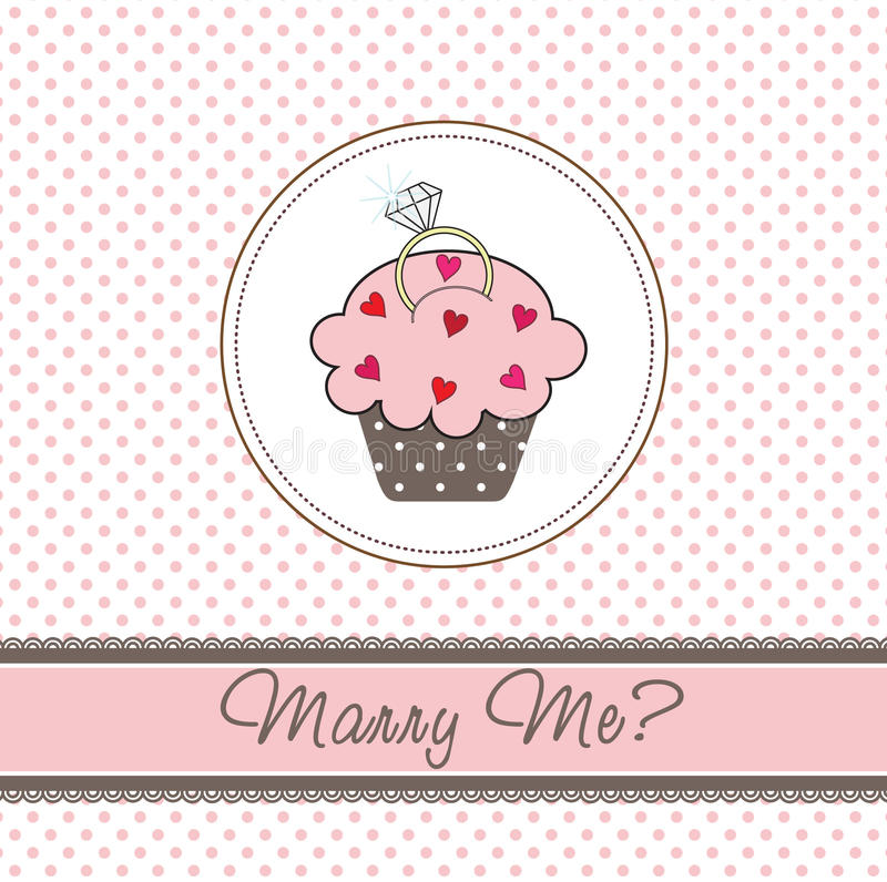 Wedding Cupcake Card Royalty Free Stock Images
