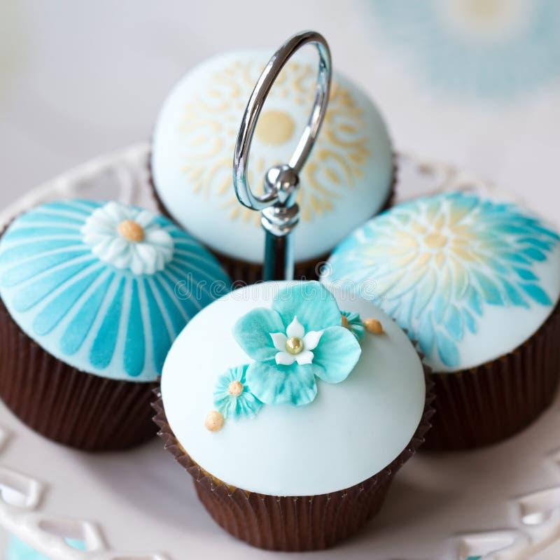 Wedding cupcakes royalty free stock photos