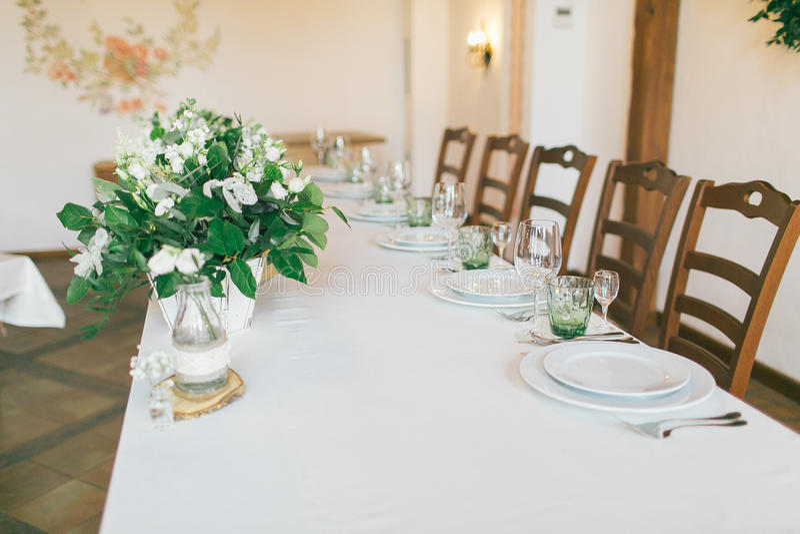 Wedding d coration table ideas stock photography