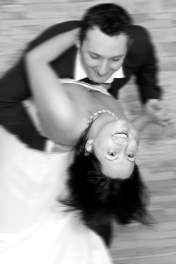 Wedding dance. Couple dancing on their wedding day