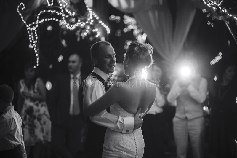 Wedding dance royalty free stock photography