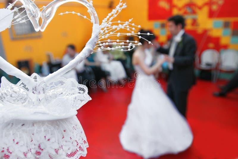 Wedding dance and heart stock photo