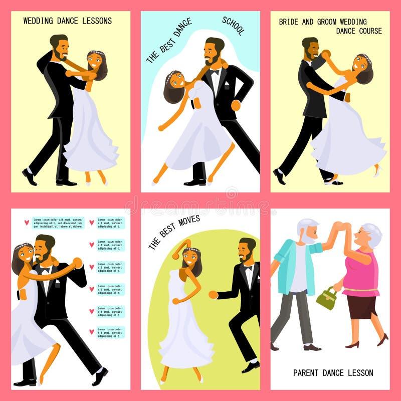Wedding dance lessons vector illustration
