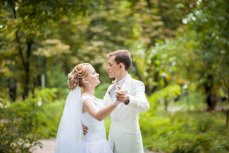Wedding dance park stock image