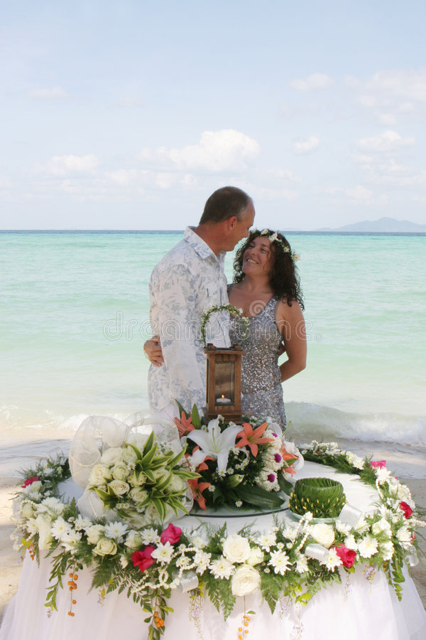 Download Wedding day on the beach stock photo. Image of emotion - 4320132