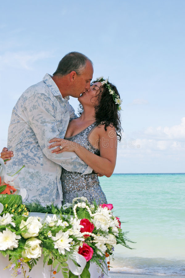 Download Wedding day on the beach stock photo. Image of destination - 4320136