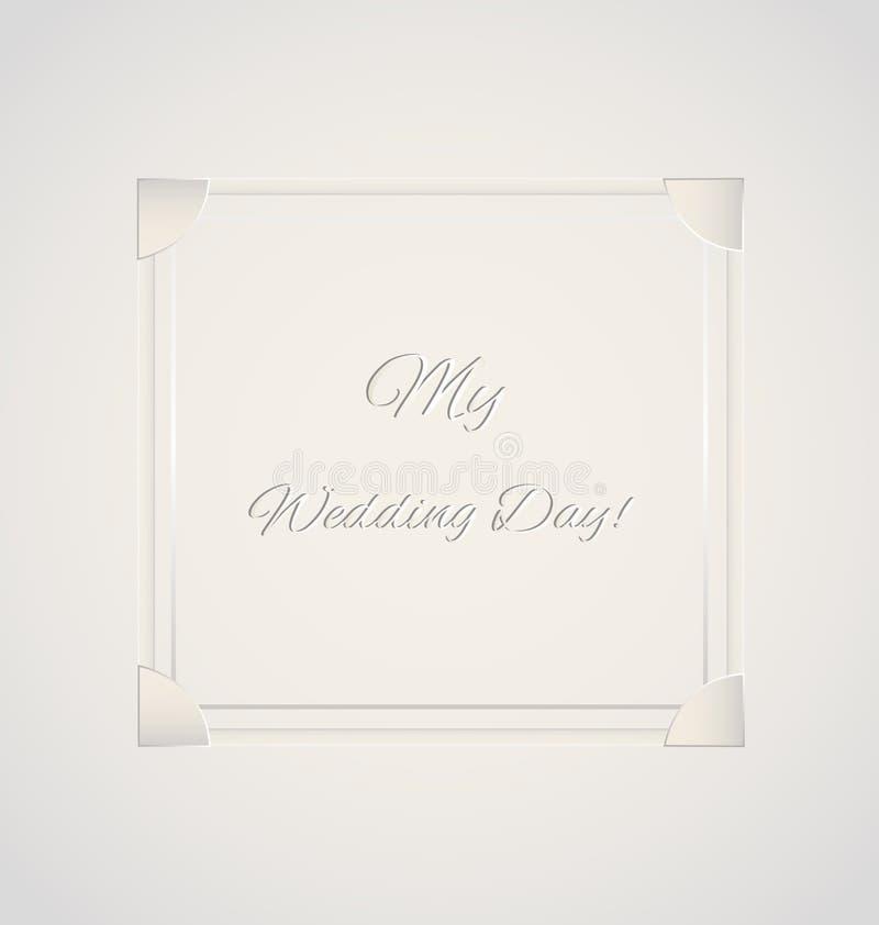 Wedding day card. Invitation vector background stock illustration