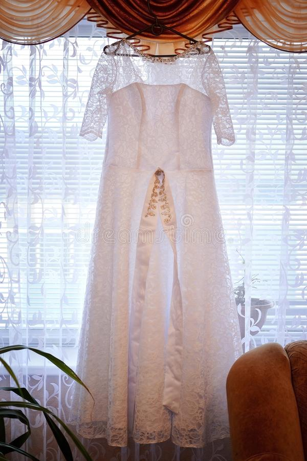 Wedding day dress for the bride stock image