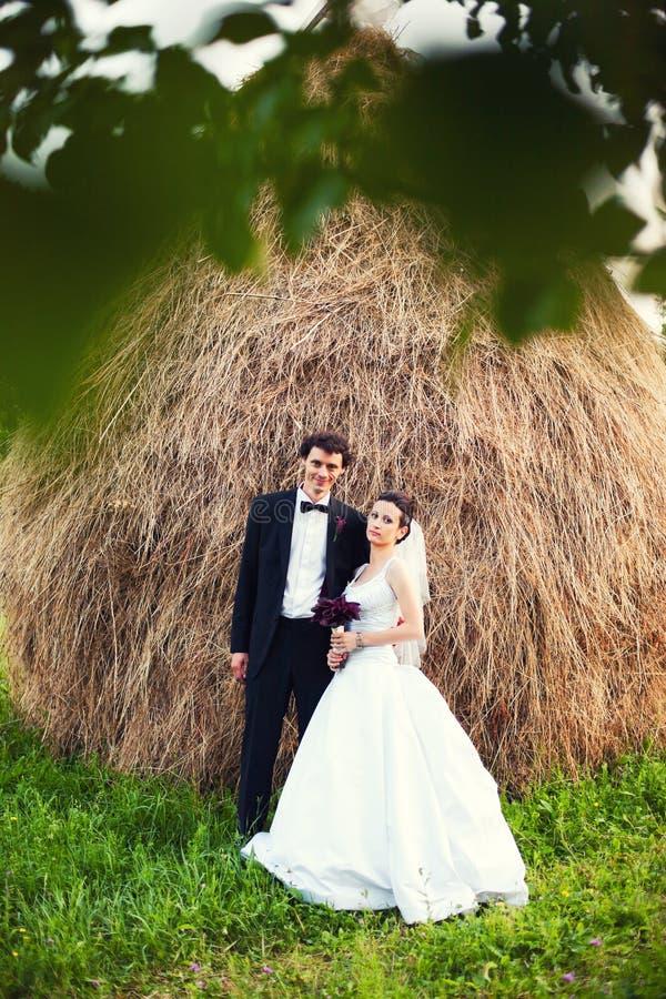 Wedding day portrait stock photo