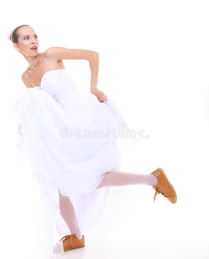 Download Wedding Day. Running Bride Isolated On White Background Stock Image - Image: 37792161