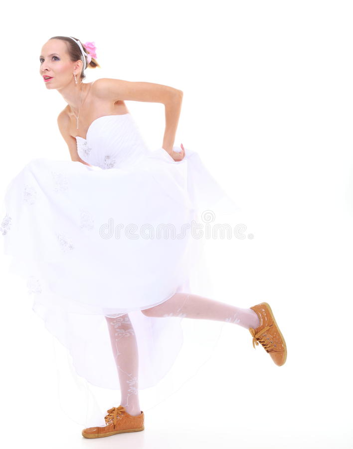 Download Wedding Day. Running Bride Isolated On White Background Stock Image - Image of away, marriage: 34509881