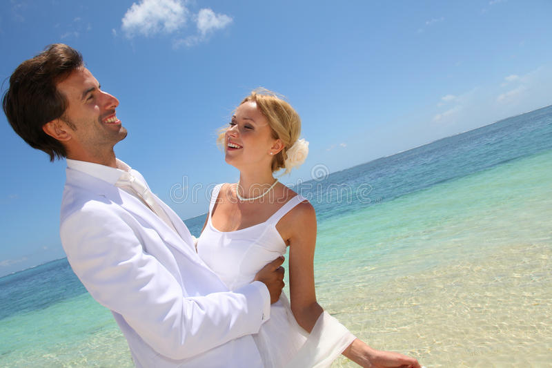 Download Wedding day by the sea stock image. Image of luxury, blue - 22085329