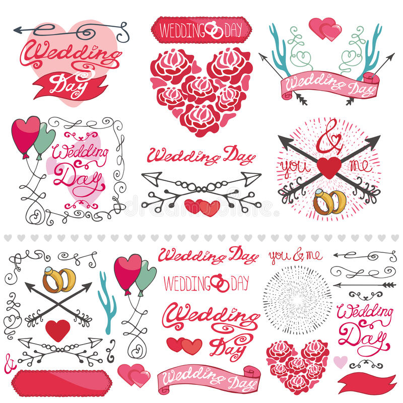 Wedding decor elements setbelscardinvitation stock vector download wedding decor elements setbelscardinvitation stock vector image junglespirit Image collections