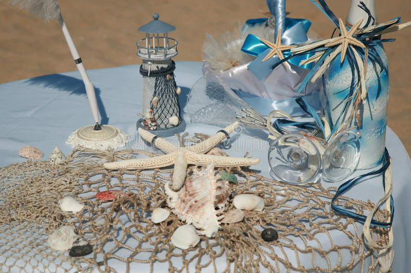 Download Wedding decoration stock image. Image of starfish, blue - 25559505