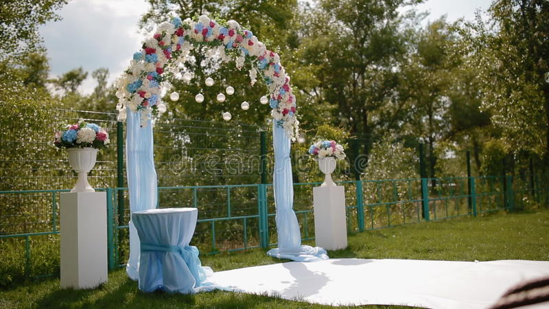 Wedding decoration arch with natural flowers stock footage video wedding decoration arch with natural flowers stock footage video of ball event 87737914 junglespirit