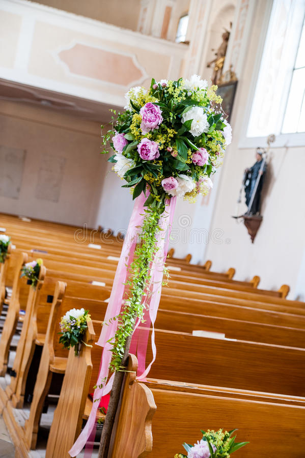 Wedding decoration in a church stock image image of inside download wedding decoration in a church stock image image of inside commitment 37528091 junglespirit Image collections