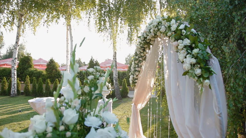 Wedding Decoration Of Natural Flowers Stock Video Video Of Petunia