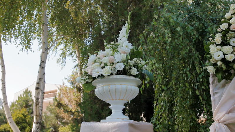 Wedding Decoration Of Natural Flowers Stock Footage Video Of Decor