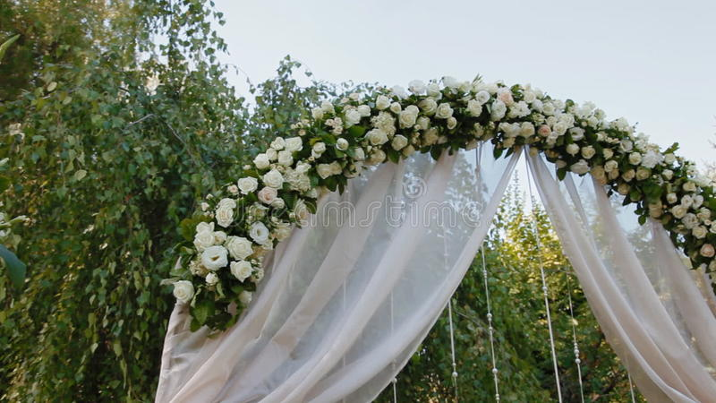 Wedding Decoration Of Natural Flowers Stock Footage Video Of Tree