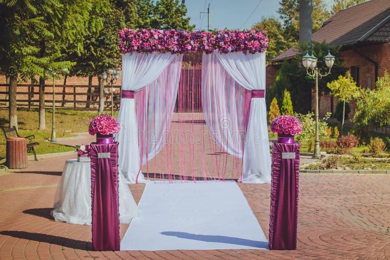 Wedding decorations stock photography