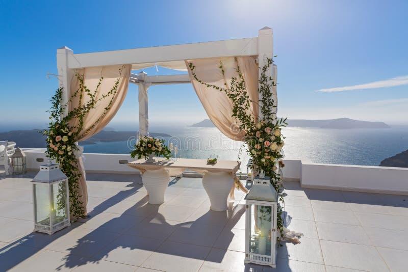 Wedding decorations, Greece, Santorini royalty free stock photos
