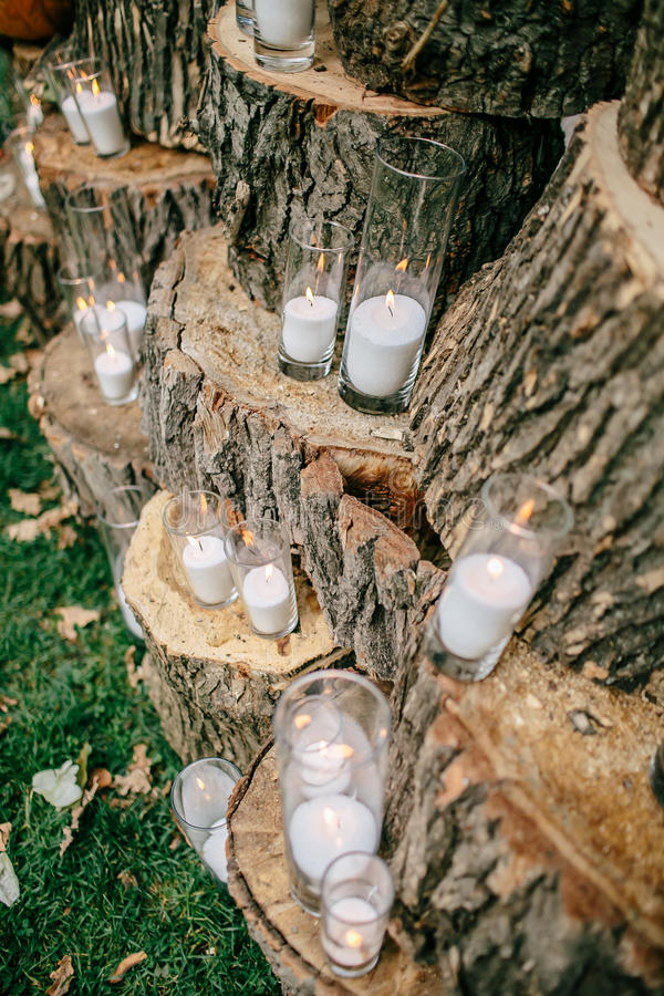 Wedding decorations in rustic style outing ceremony wedding in download wedding decorations in rustic style outing ceremony wedding in nature candles in junglespirit Images
