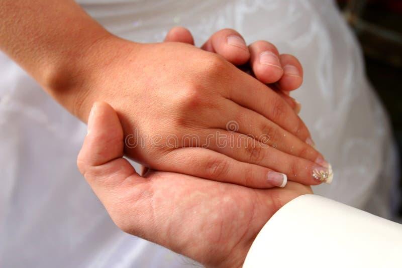 Wedding in der Kirche. stockbild