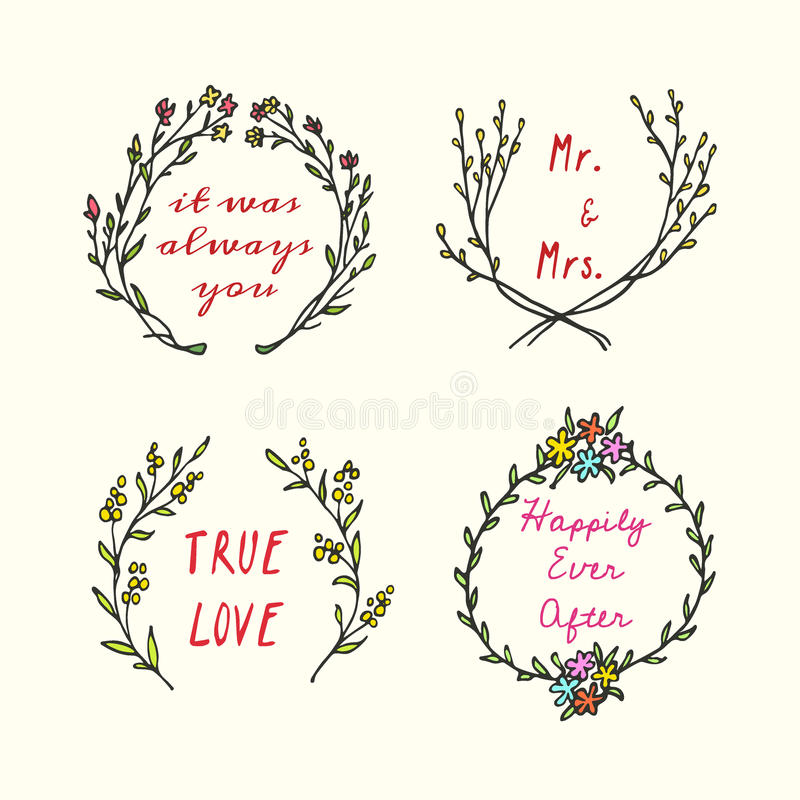 Wedding Thanks Quotes: Wedding Design Stock Vector. Illustration Of Party