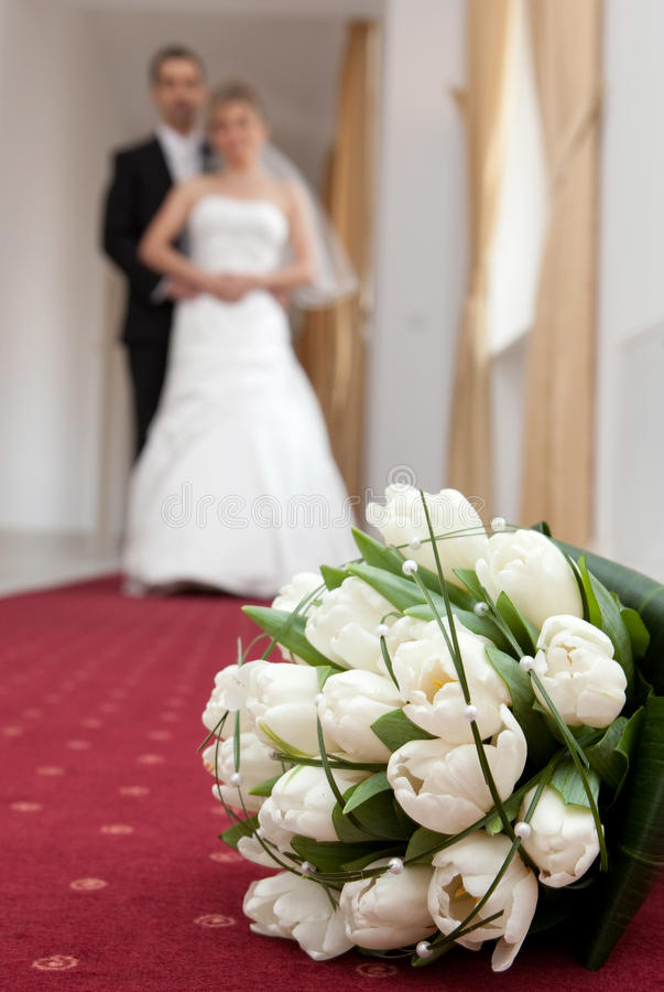 Wedding detail of the bouquet royalty free stock image