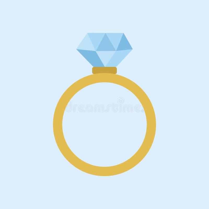 Wedding Diamond Ring Vector Illustration Graphic. Design stock illustration