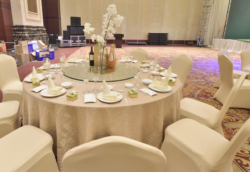 Wedding dining-table royalty free stock photography
