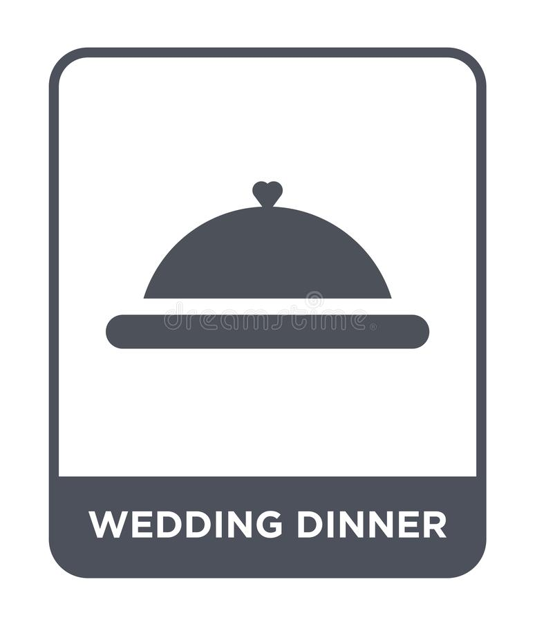 wedding dinner icon in trendy design style. wedding dinner icon isolated on white background. wedding dinner vector icon simple vector illustration