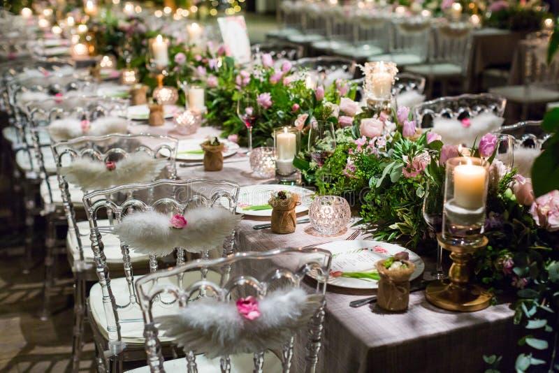 Wedding dinner stock image