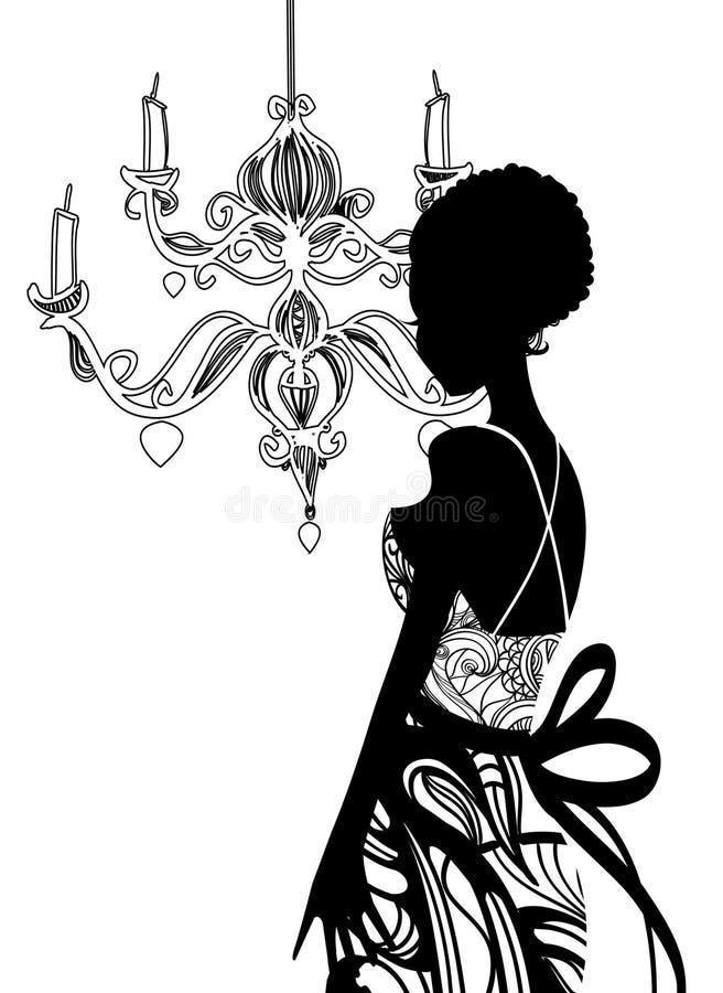 Download Wedding dress stock illustration. Illustration of romatic - 12548009