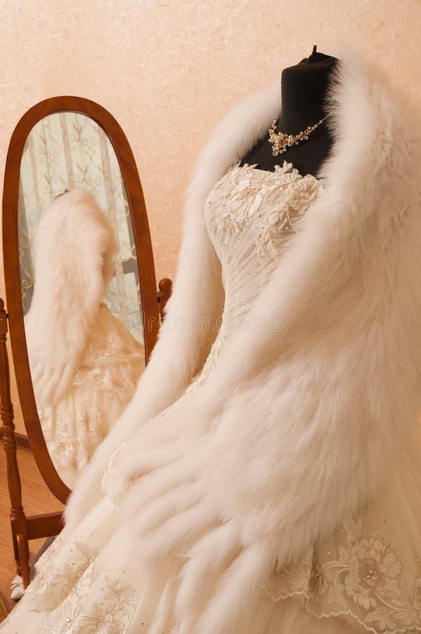 Download Wedding dress. stock photo. Image of beauty, cape, jewellery - 14853244